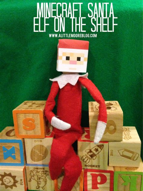 elf on the shelf minecraft santa printable elf on the shelf printable minecraft santa mask