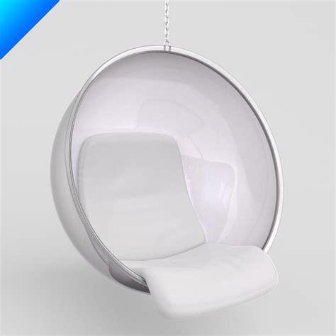 bobble 3d model 3ds max eero aarnio chair