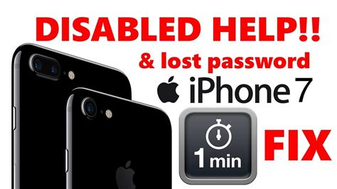 all iphone 7 7 plus is disabled i forgot my password restore my iphone