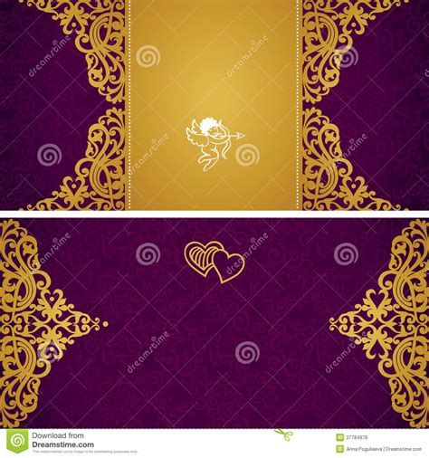 vintage style photo cards template vintage greeting cards with swirls and floral motifs in