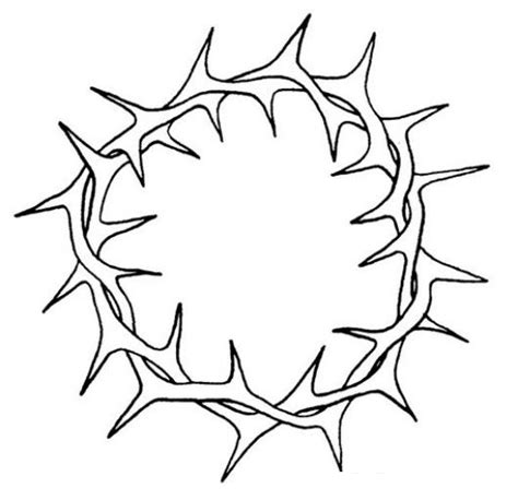 Crown Of Thorns Coloring Page coloring easter week coloring crown of thorns coloring