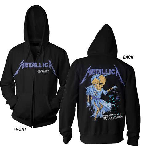 Hoodie Zipper Metalica Cloth blabbermouth sad but true zipped hoodie metallica