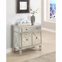 Mirrored Glass Nightstand Mirrored Glass Console 2 Door Chest Nightstand Storage Mirror Accent Table Stand Ebay