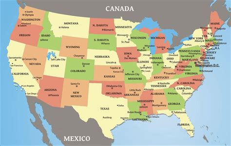 map of the united states com world map united states of america