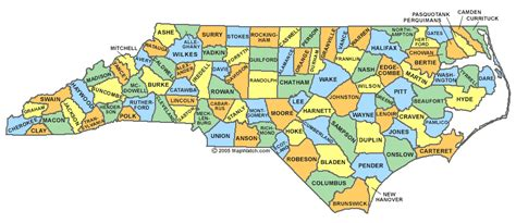 nc counties map carolina county map region county map regional city