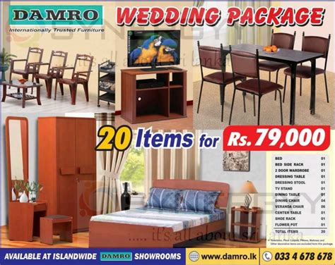 Kitchen Island As Dining Table by Damro Wedding Package For 20 Items For Rs 79 000 00