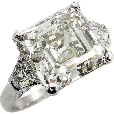 Huge Art Deco 7.59ct Asscher, Square Emerald Cut Diamond