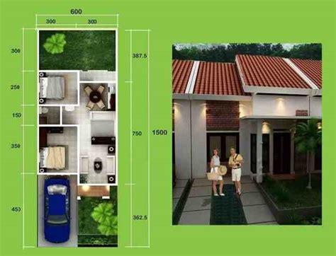 Membangun Dapur Apik Nyaman 44 gambar desain 3d denah rumah minimalis 1 lantai