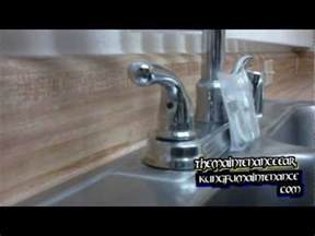 How To Tighten A Kitchen Faucet Handle How To Tighten Down A Loose Faucet Handle Youtube