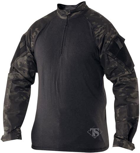 Combat Shirt Black tru spec tactical response combat shirt multicam