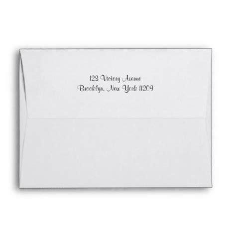 return address on wedding invitation envelope custom return address liners wedding envelope zazzle