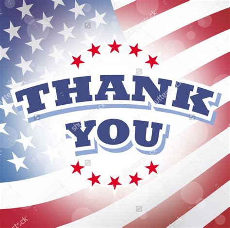 patriotic thank you card template 21 thank you card templates psd vector eps jpg