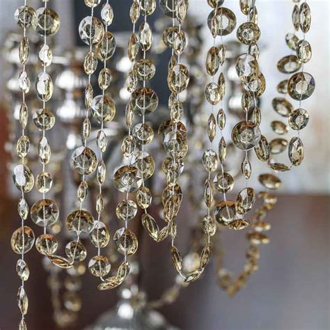 chagne acrylic crystal garland pearl spools bead