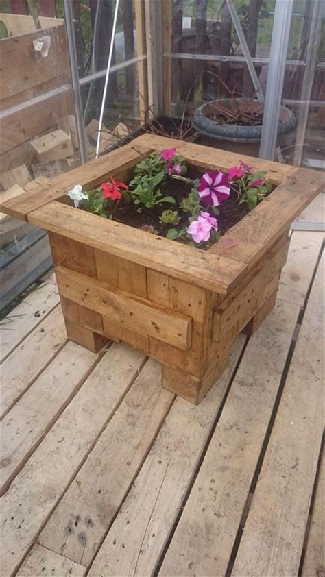 Flower Planter Boxes Planter Boxes Made From Wooden Recycled Things