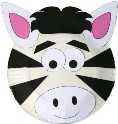 Paper Plate Animal Crafts - paper plate zebra craft