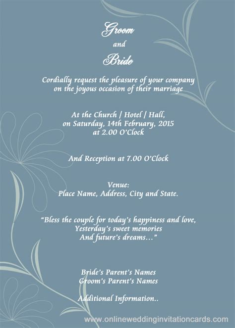 e wedding invitation cards templates free awesome free wedding invitation templates to email