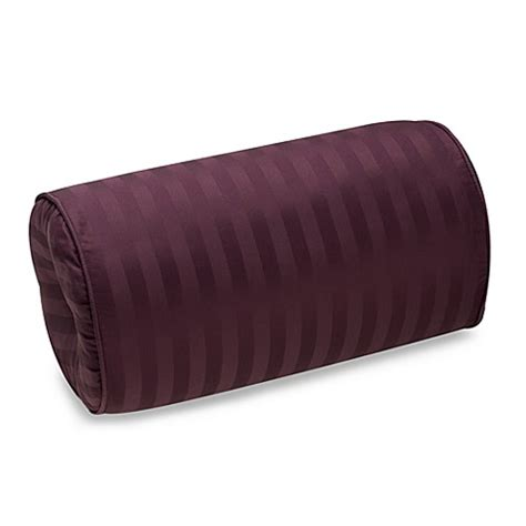bolster bed pillows wamsutta 174 damask stripe purple bolster pillow bed bath beyond
