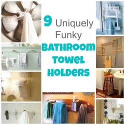 9 uniquely funky bathroom towel holders bath and