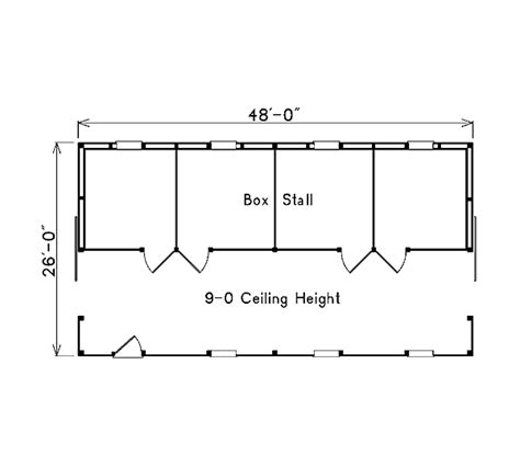 Pole Barn House Plans With Loft Project Plan 85942 Pole Building Horse Barn With Loft