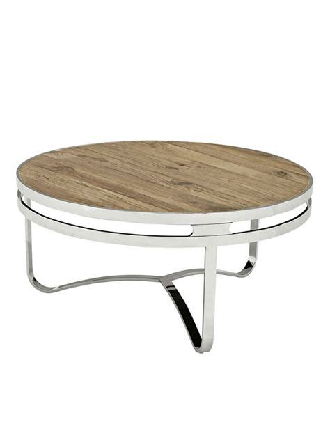 wood and chrome coffee table wood chrome circular coffee table modern furniture