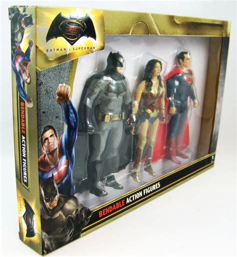 Figure Batman Vs Superman Superman Bendable Figure of justice njcroce bendable figures set batman superman