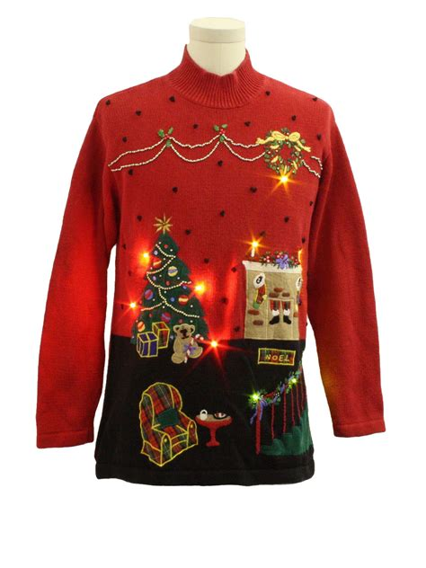 fireplace sweater lightup sweater missing label unisex
