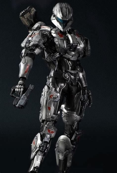 arevlos navideos halo4 play arts collectible toys zone pinterest
