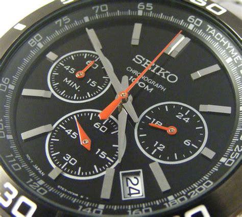 Seiko Chronograph Sks527p1 Black Bezel s watches seiko 6t63 movement tachymeter black ion plated bezel 1 5sec 24 hour