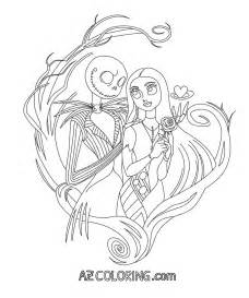 Nightmare before christmas printable coloring pages az coloring