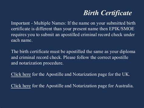 Apostilled Criminal Record Check Epik And Smoe Additional Documents Teaching In
