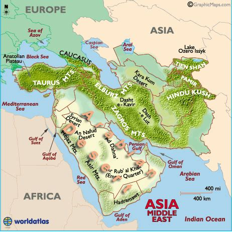 middle east map landforms middle east map map of middle east turkey iraq dubai