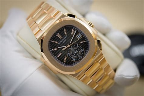 Jam Tangan Patek Philippe Nautilus Moonphase Rosegold Grey on with the patek philippe 5980 1r 001 the