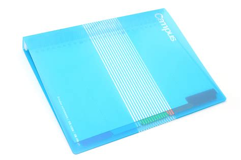 Binder B5 26ring S6 kokuyo cus slide binder b5 26 rings light blue jetpens