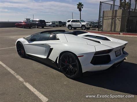Lamborghini Aventador Los Angeles Lamborghini Aventador Spotted In Los Angeles California