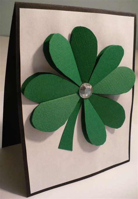 How To Make 3d Paper Crafts - make a 3d paper shamrock 187 dollar store crafts
