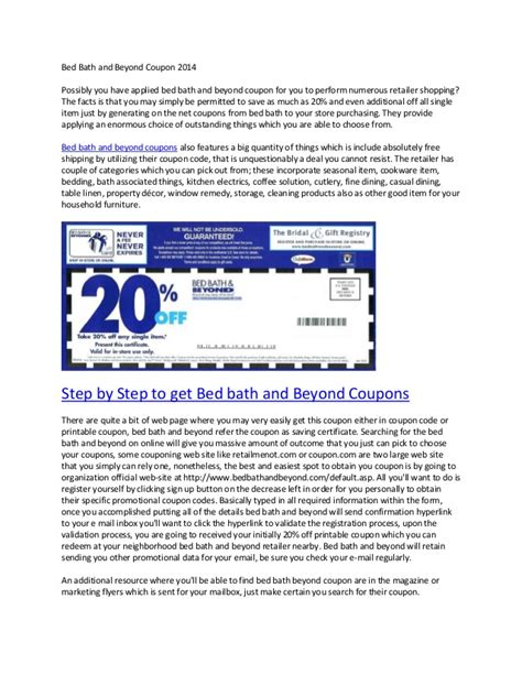Bed And Bath Beyond Coupons by Bed Bath And Beyond Coupons 2014