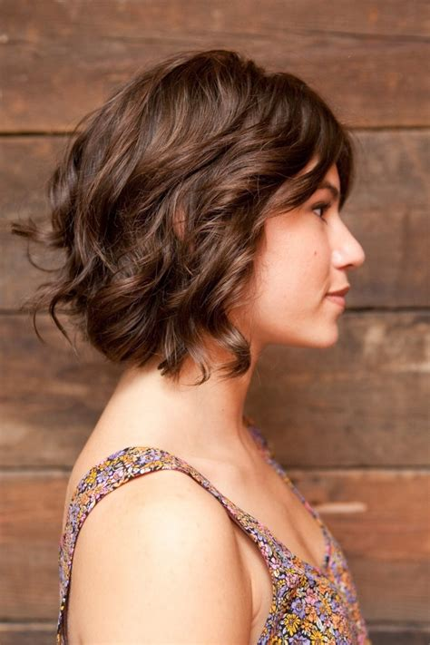 hair style ideas with slight wave in short layered bob curly i already cut my hair but this