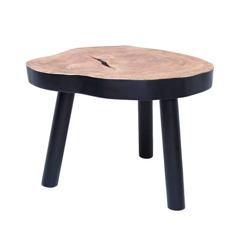 Black And Wood Coffee Table Hk Living Coffee Table L Tree Wood Black 65x65x46cm Lefliving