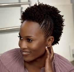 Twist out and braids natural hairstyle
