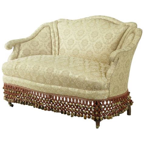 Small Sofa Settee 1920s Boudoire Small Sofa Settee For Sale At 1stdibs