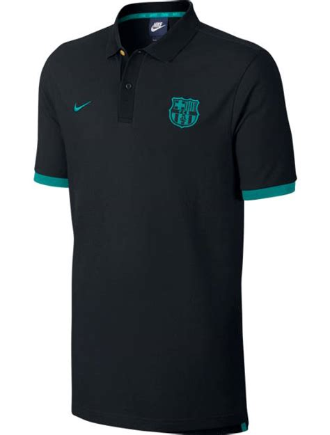 Polo Shirt Nike Barcelona Barca Nike barcelona nike polo shirt black 2016 17 cotton ebay