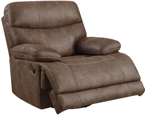microfiber glider recliner earl sanded microfiber brown swivel glider recliner from