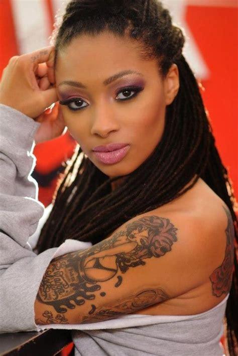 black women tattoos dutchess black ink crew pretty