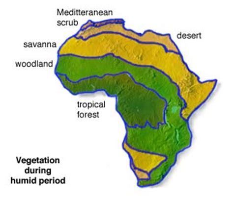 africa map vegetation prehistoric puzzles africa info