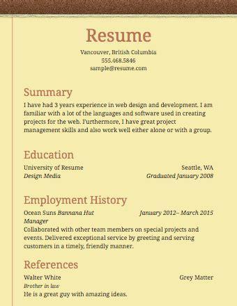 examples of simple resumes berathencom - Simple Resumes