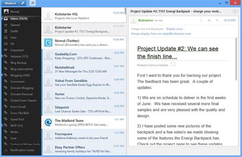 beautiful mail mailbird a beautiful email client for windows