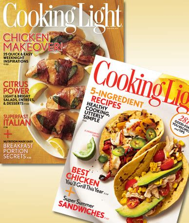 two year subscription to cooking light magazine 15