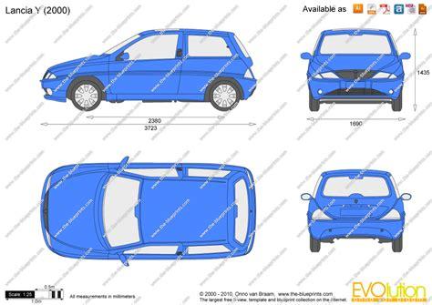 the blueprints vector drawing lancia y