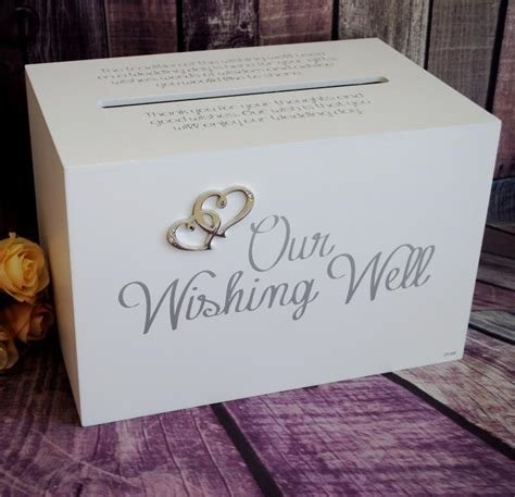 Wedding Wishes Card Box by Wedding Our Wishing Well Printed Timber Box Wedding Wish
