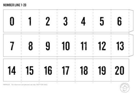 printable number line color nyomtathat 243 sz 225 megyenes 1 20 matematika pinterest